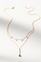 Anthropologie Juno Layered Necklace Wine