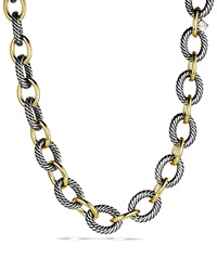David Yurman Oval Extra Large Link Necklace With Gold 17 Silver Yellow Gold