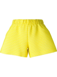 Viktor And Rolf Textured A Line Shorts Yellow And Orange