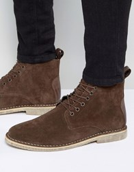 Asos Desert Boots In Brown Suede Brown