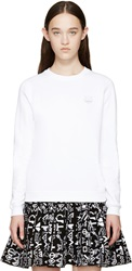 Kenzo White And Silver Tiger Sweatshirt