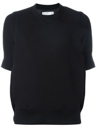 Sacai Short Sleeved Sweatshirt Black