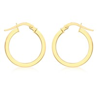 Ibb 9Ct Yellow Gold Creole Hoop Medium Earrings Gold