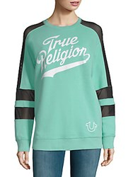 True Religion Graphic Long Sleeve Pullover Black