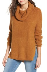 Dreamers By Debut Cowl Neck Sweater Mustard