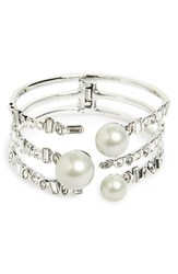 Women's Alexis Bittar Shell Pearl Stacked Hinge Cuff