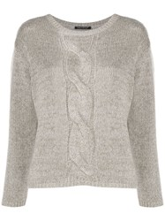 Luisa Cerano Cable Knit Detail Jumper 60