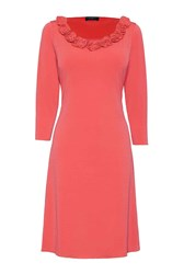 James Lakeland Rose A Line Dress Orange