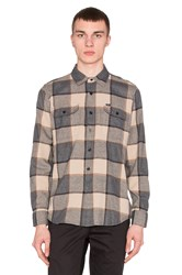 Obey Belmont Button Down Gray