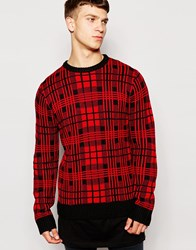 Another Influence Check Jumper Red