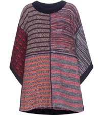 See By Chloe Patchwork Poncho Multicoloured