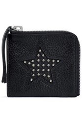 Mcq By Alexander Mcqueen Studded Pebbled Leather Coin Purse Black
