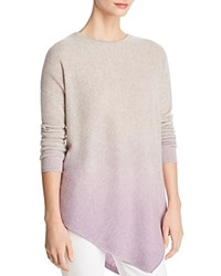 Bloomingdale's C By Asymmetric Dip Dye Cashmere Sweater 100 Exclusive Cement
