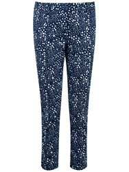 Pure Collection Juliana Capri Trousers Brushed Spot Print