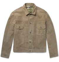 Richard James Suede Jacket Army Green