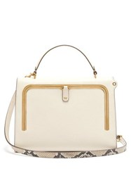 Anya Hindmarch Postbox Medium Leather Cross Body Bag White