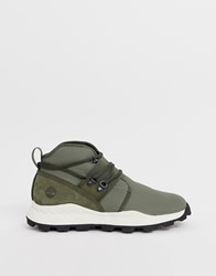 Timberland Brooklyn Hiker Trainers In Green Ripstop