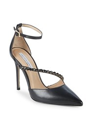 Saks Fifth Avenue Stone Leather Pumps Black