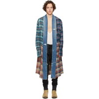 Greg Lauren Multicolor Long Kimono Studio Shirt