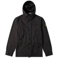 Stone Island David Tc Hooded Zip Parka Black