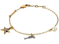 Marc Jacobs Champagne Flute Chain Bracelet Antique Gold Bracelet
