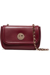 Hill And Friends Happy Chain Leather Shoulder Bag Burgundy