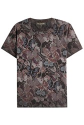 Valentino Butterfly Printed Cotton T Shirt Multicolor
