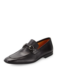 Magnanni For Neiman Marcus Leather Bit Loafer Black