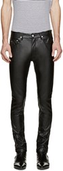 April 77 Black Faux Leather Joey Lezzer Pants