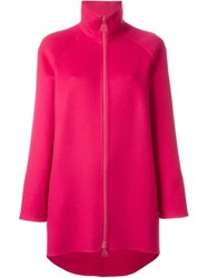 Akris Zipped Short Coat Pink And Purple