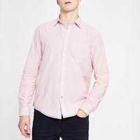 River Island Pepe Jeans Pink Pinstripe Shirt