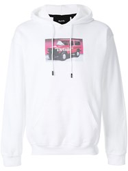 Blood Brother Details Hoodie Cotton Polyester White