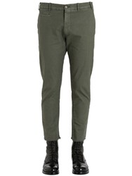 Berwich 17.5Cm Raw Hem Slim Cotton Linen Pants