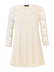 Grace Made In Britain Lace Tunic Cream
