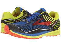 Brooks Mazama Electric Blue Lime Punch Cherry Tomato Men's Running Shoes