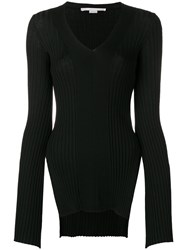 Stella Mccartney Ribbed Fitted Sweater Black