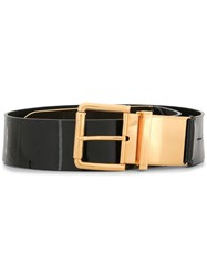 Ralph Lauren Collection Patent Belt Black