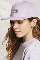 Forever 21 Hand Heart Graphic Baseball Cap Purple