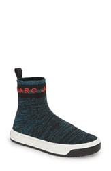 Marc Jacobs Dart Sock Knit Sneaker Blue Multi
