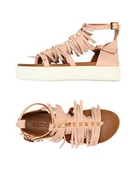Inuovo Toe Strap Sandals Pastel Pink