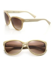 Max Mara Tailored 57Mm Butterfly Sunglasses Black Beige