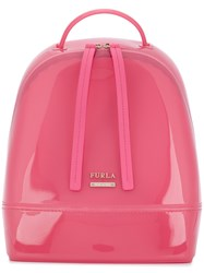 Furla Pvc Candy Backpack Pink And Purple