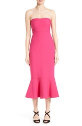 Cinq A Sept Women's 'Luna' Flounce Hem Strapless Dress