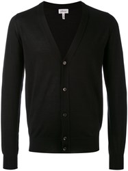 Brioni V Neck Buttoned Cardigan Men Silk Cashmere 50 Black