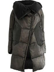 Isaac Sellam Experience Leather Padded Coat Grey