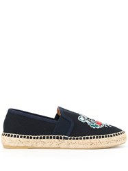 Kenzo Embroidered Tiger Espadrilles Blue