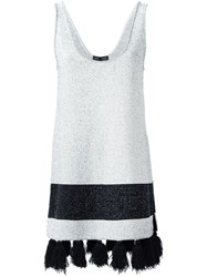 Proenza Schouler Sleeveless Tasseled Tunic White