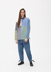 J.W.Anderson Jw Anderson 'S Patchwork Rugby Shirt In China Blue Size Small 100 Cotton