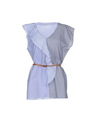 Noshua Topwear Tops Women Sky Blue