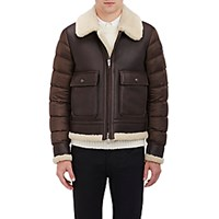 Moncler Men's Aviator Bomber Jacket Brown